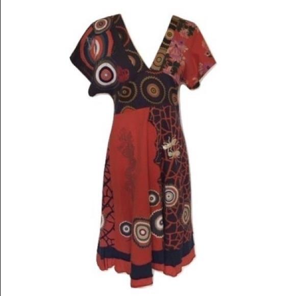 Desigual Dresses & Skirts - Desigual midi cotton dress